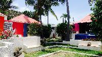 cool backyard of Saint Barth Villa Lezard Palace luxury holiday home, vacation rental