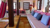 cool sitting room in Saint Barth Villa Lezard Palace luxury holiday home, vacation rental