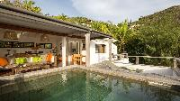 cool swimming pool of Saint Barth Villa Phoenix holiday home, luxury vacation rental