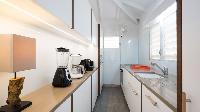 modern kitchen of Saint Barth Villa Phoenix holiday home, luxury vacation rental