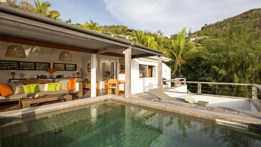 cool swimming pool of Saint Barth Villa Phoenix holiday home, luxury vacation rental