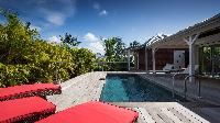 cool poolside of Saint Barth Villa Wild Blue Estate luxury holiday home, vacation rental