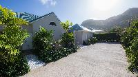 cool garden of Saint Barth Villa Wild Blue Estate luxury holiday home, vacation rental
