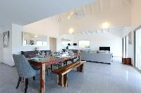 neat dining area in Saint Barth Villa Wild Blue Estate luxury holiday home, vacation rental