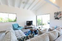 neat sitting area in Saint Barth Villa Wild Blue Estate luxury holiday home, vacation rental