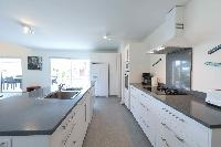 immaculate kitchen of Saint Barth Villa Wild Blue Estate luxury holiday home, vacation rental