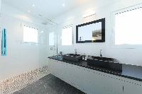 neat and trim lavatory in Saint Barth Villa Wild Blue Estate luxury holiday home, vacation rental