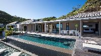 cool poolside area at Saint Barth Villa Casawapa luxury holiday home, vacation rental