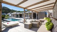 splendid cabana and patio of Saint Barth Villa Casawapa luxury holiday home, vacation rental