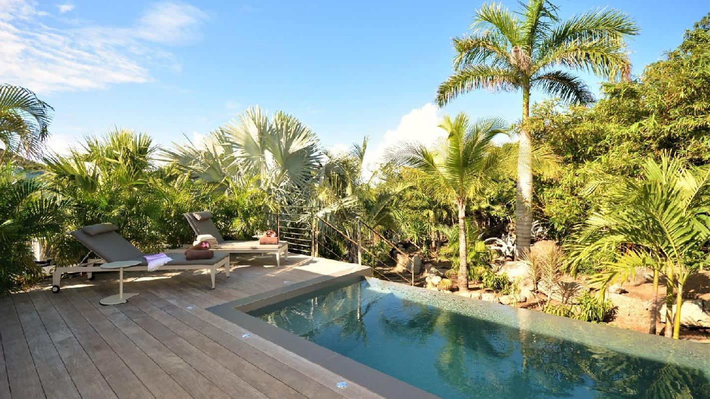 beautiful pool of Saint Barth Villa Cosy Amancaya luxury holiday home, vacation rental