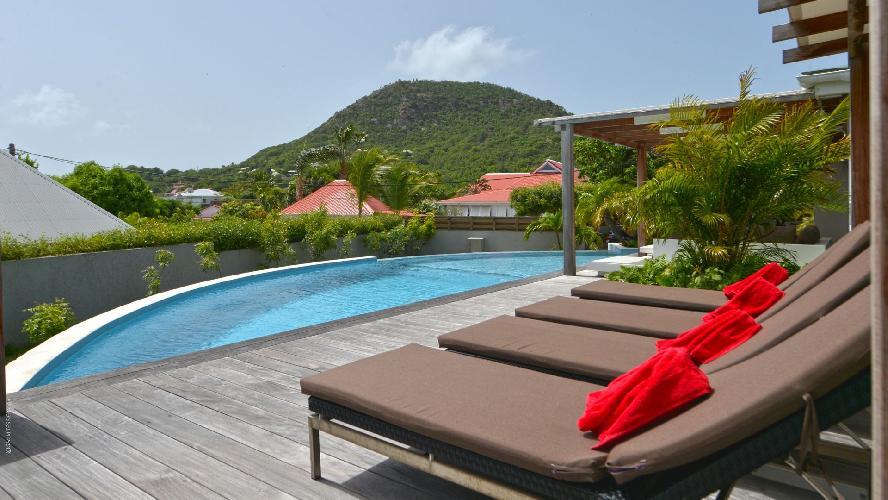amazing swimming pool of Saint Barth Luxury Villa Evan holiday home, vacation rental