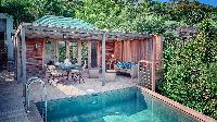 beautiful swimming pool of Saint Barth Villa Ti Lama luxury holiday home, vacation rental