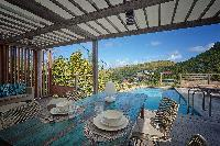 cool lanai of Saint Barth Villa Ti Lama luxury holiday home, vacation rental