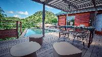 cool poolside of Saint Barth Villa Ti Lama luxury holiday home, vacation rental