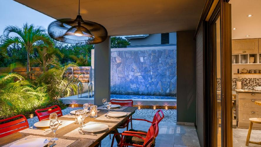 cool patio of Saint Barth Luxury Villa Fourchue holiday home, vacation rental
