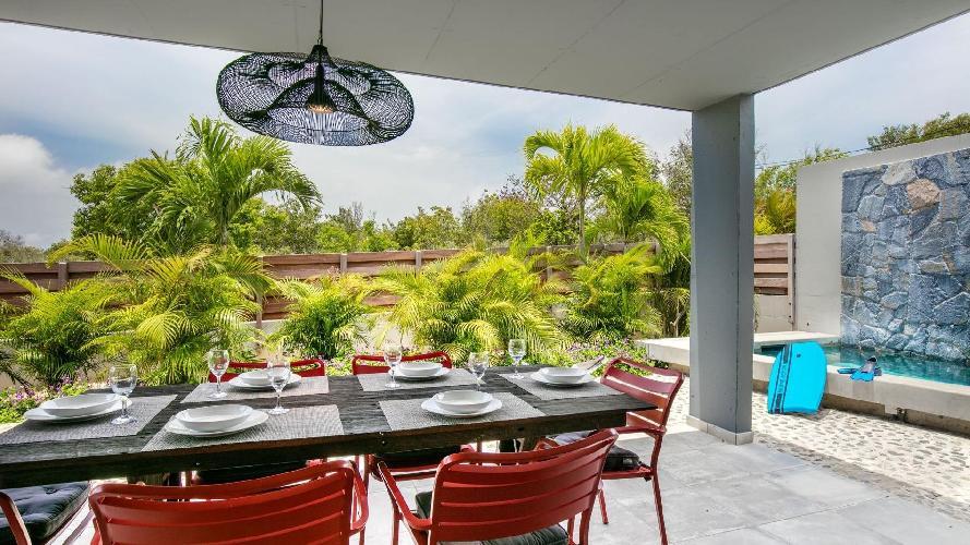cool lanai of Saint Barth Luxury Villa Fourchue holiday home, vacation rental