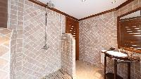 neat bathroom in Saint Barth Villa Indian Song luxury holiday home, vacation rental