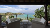 cool balcony of Saint Barth Villa Indian Song luxury holiday home, vacation rental