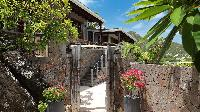 lush garden of Saint Barth Villa Indian Song luxury holiday home, vacation rental
