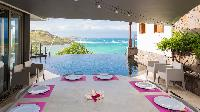 incredible dining room in Saint Barth Villa Indian Song luxury holiday home, vacation rental