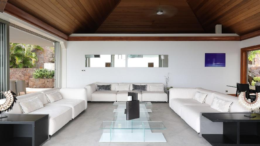 incredible living room in Saint Barth Villa Indian Song luxury holiday home, vacation rental