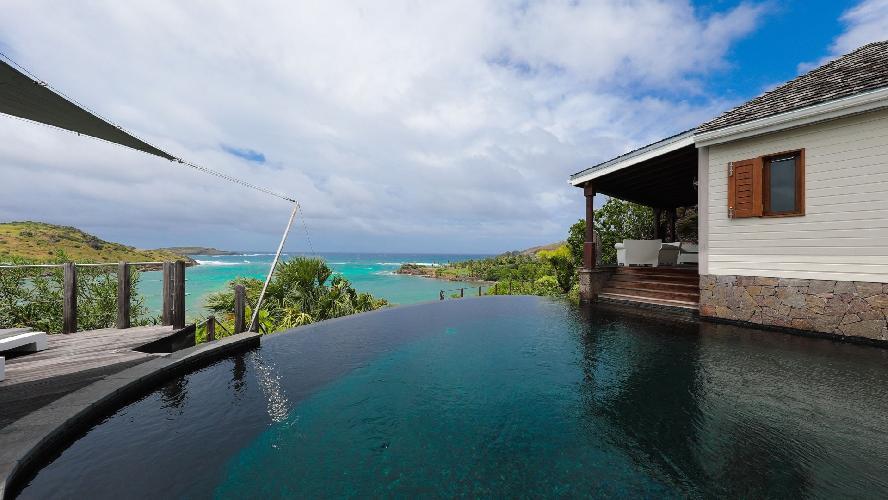 incredible exterior of Saint Barth Villa Indian Song luxury holiday home, vacation rental