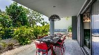 cool lanai of Saint Barth Villa Nevis luxury holiday home, vacation rental