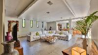 nifty living room of Saint Barth Villa K luxury holiday home, vacation rental