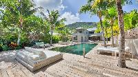 cool swimming pool of Saint Barth Villa K luxury holiday home, vacation rental
