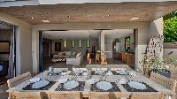nifty dining area in Saint Barth Villa K luxury holiday home, vacation rental