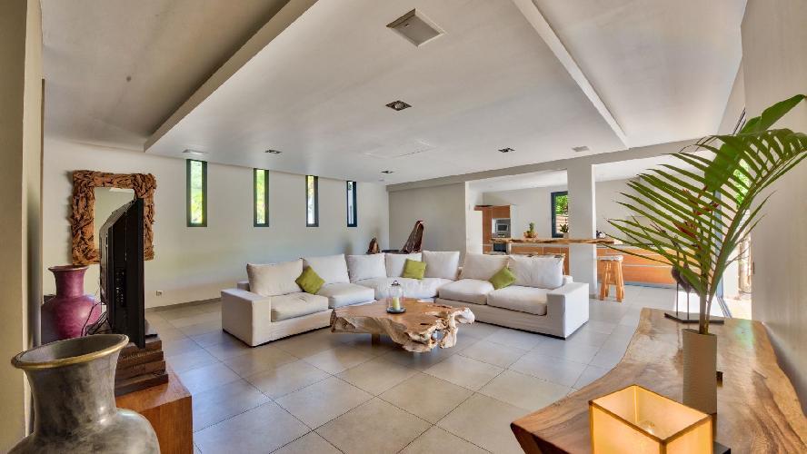 nifty living room of Saint Barth Villa K luxury holiday home, vacation rental