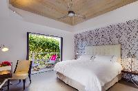 fresh bedroom linens in Saint Barth Villa Datcha Estate luxury holiday home, vacation rental