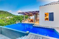 cool swimming pool of Saint Barth Villa Datcha Estate luxury holiday home, vacation rental