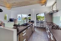 modern kitchen of Saint Barth Villa Datcha Estate luxury holiday home, vacation rental