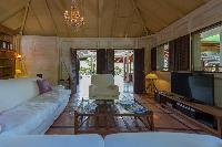 delightful sitting area in Saint Barth Villa Lama Estate luxury holiday home, vacation rental