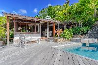 cool poolside of Saint Barth Villa Lama Estate luxury holiday home, vacation rental