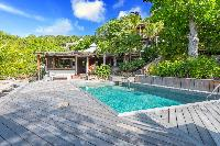 cool swimming pool of Saint Barth Villa Lama Estate luxury holiday home, vacation rental