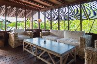 cool lanai of Saint Barth Villa Lama Estate luxury holiday home, vacation rental