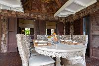 delightful dining area in Saint Barth Villa Lama Estate luxury holiday home, vacation rental