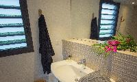spic-and-span bathroom in Saint Barth Villa Lama Estate luxury holiday home, vacation rental
