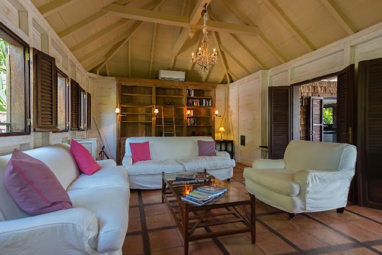 cool living room of Saint Barth Villa Lama Estate luxury holiday home, vacation rental