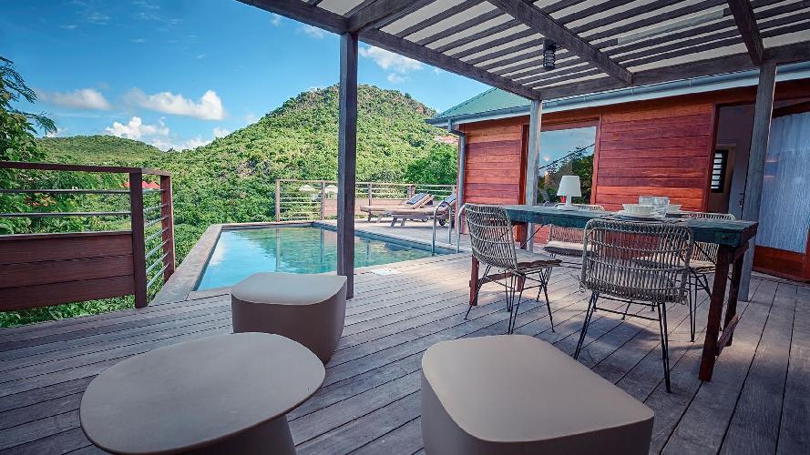 cool terrace of Saint Barth Villa Lama Estate luxury holiday home, vacation rental