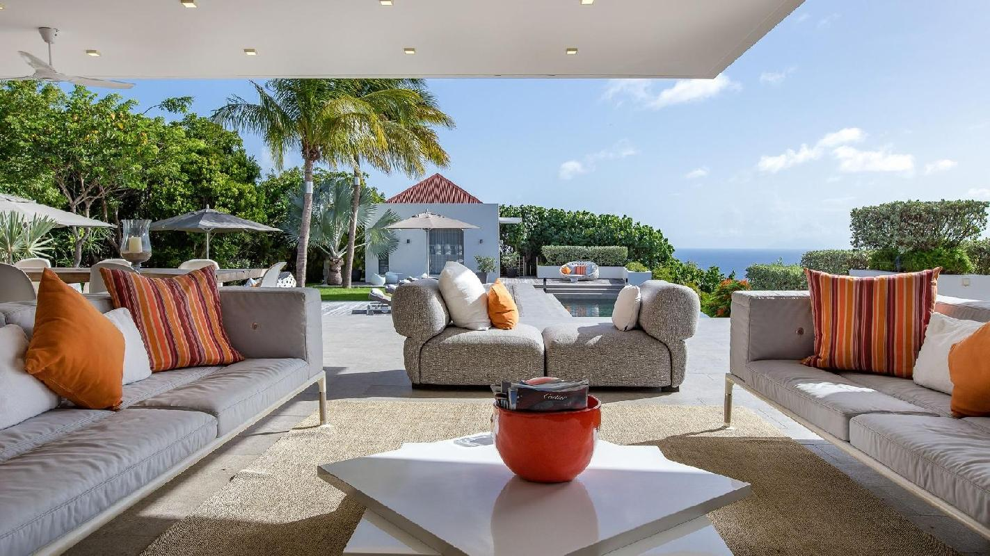 impeccable Saint Barth Villa Palm Springs holiday home, vacation rental