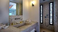 clean lavatory in Saint Barth Villa Palm Springs holiday home, vacation rental