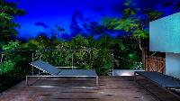 cool balcony of Saint Barth Villa Palm Springs holiday home, vacation rental