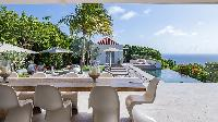 airy and sunny Saint Barth Villa Palm Springs holiday home, vacation rental