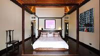 clean bedroom linens in Saint Barth Villa Silver Rainbow luxury holiday home, vacation rental
