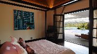 fresh bedroom linens in Saint Barth Villa Silver Rainbow luxury holiday home, vacation rental