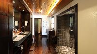 swanky rain shower in Saint Barth Villa Silver Rainbow luxury holiday home, vacation rental