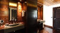 swanky lavatory in Saint Barth Villa Silver Rainbow luxury holiday home, vacation rental